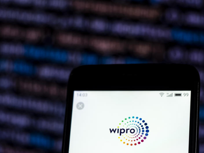 KIEV, UKRAINE - 2018/12/04:  In this photo illustration, the Wipro Information technology consulting company logo seen displayed on a smartphone. (Photo Illustration by Igor Golovniov/SOPA Images/LightRocket via Getty Images)