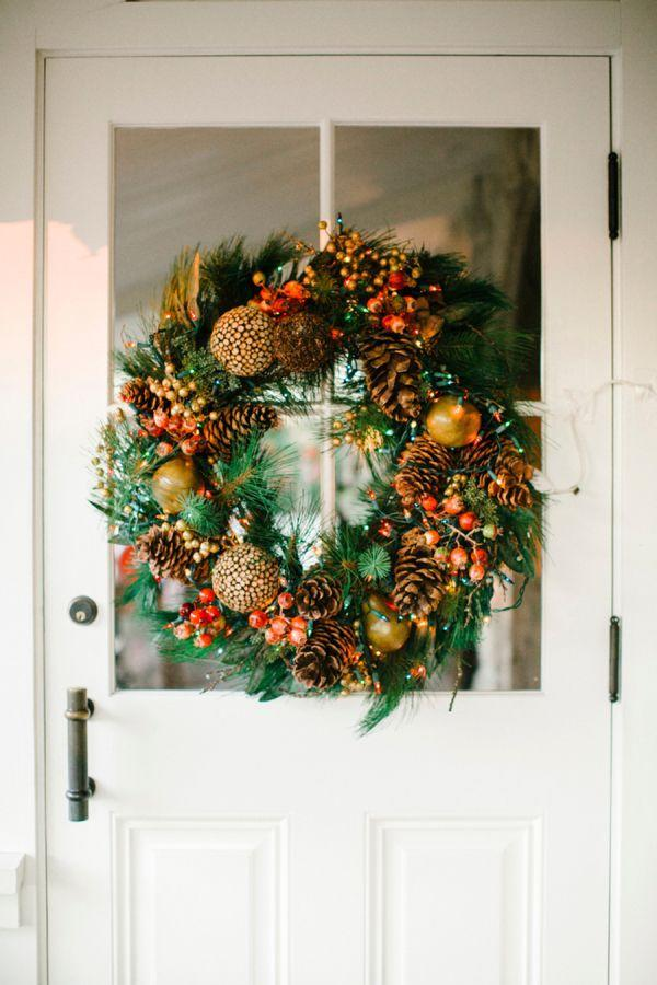 "<p>A <a href=""https://www.elledecor.com/design-decorate/g2825/best-christmas-wreaths/"" rel=""nofollow noopener"" target=""_blank"" data-ylk=""slk:Christmas wreath"" class=""link rapid-noclick-resp"">Christmas wreath</a> never loses its charm, but it can be reimagined with bountiful goodies such as pine cones, cranberries, and other seasonal bits like this wreath from <a href=""http://www.stylemepretty.com/vault/image/2358834"" rel=""nofollow noopener"" target=""_blank"" data-ylk=""slk:Style Me Pretty Living"" class=""link rapid-noclick-resp"">Style Me Pretty Living</a>. </p>"