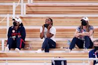 """<p>On Aug. 2, Biles cheered loudly in the stands, along with Chiles and McCallum, as she watched Skinner — who <a href=""""https://people.com/sports/tokyo-olympics-mykalya-skinner-says-shes-doing-this-for-simone-biles/"""" rel=""""nofollow noopener"""" target=""""_blank"""" data-ylk=""""slk:had thought her Olympic dreams were dead"""" class=""""link rapid-noclick-resp"""">had thought her Olympic dreams were dead</a> — win silver, her first-ever Olympic medal, in the vault final.</p> <p>Shortly after, Biles could also be heard supporting Lee in the bars final, for which the 18-year-old Minnesota athlete won the bronze medal. Lee collected a box set with one medal in each color (gold, silver and bronze) ahead of Tuesday's beam final.</p>"""