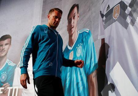 Soccer Football - World Cup - Germany Press Conference - Moscow, Russia - June 19, 2018 Germany's Manuel Neuer after the press conference REUTERS/Axel Schmidt