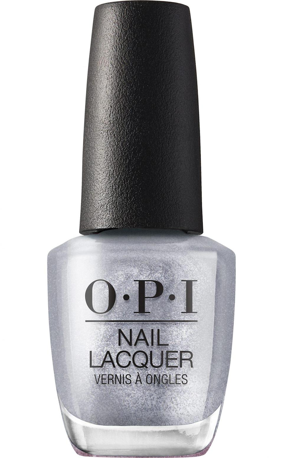 """<p>""""When I am not competing, I love getting my nails done – and usually get gels with fun nail art or something glittery. My favorite salon has the best colors and I am always up to try something new.""""</p> <p><strong>Buy It!</strong> OPI Nail Lacquer in """"Tinsel, Tinsel 'Lil Star,"""" $10.50; <a href=""""https://www.opi.com/shop-products/nail-polish-powders/nail-lacquer/tinsel-tinsel-lil-star"""" rel=""""sponsored noopener"""" target=""""_blank"""" data-ylk=""""slk:opi.com"""" class=""""link rapid-noclick-resp"""">opi.com</a></p>"""