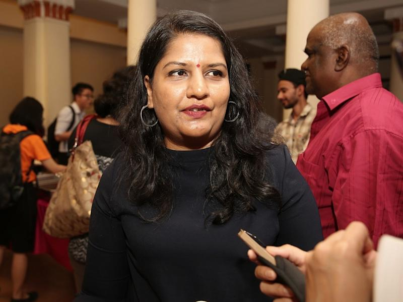 M. Indira Gandhi speaks to reporters after the launch of the NGO report titled 'The Status of Women's Human Rights: 24 Years of Cedaw in Malaysia' in Kuala Lumpur January 23, 2019. — Picture by Choo Choy May