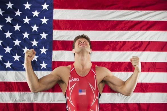 Freestyle wrestler Jake Herbert poses for a portrait during the 2012 U.S. Olympic Team Media Summit in Dallas, May 15, 2012.