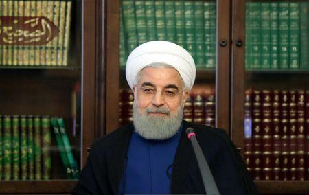 Iranian President Hassan Rouhani attends a meeting of the Social Council of Iran, in Tehran