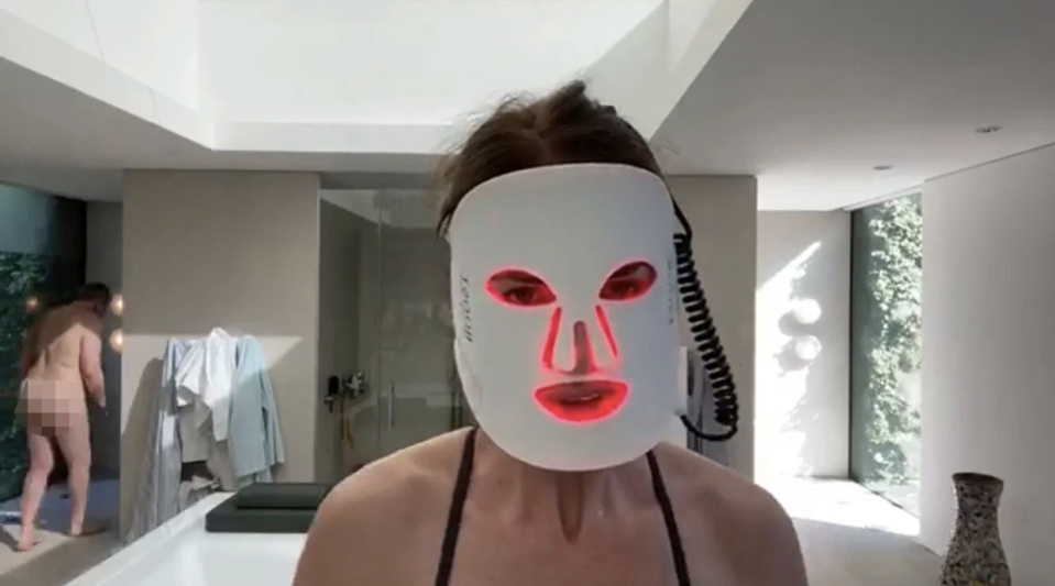 Trinny Woodall's partner Charles Saatchi accidentally walked into her livestream naked. Photo: Facebook/Trinny Woodall