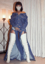<p>Is it a dress? No. At Coachella, Rihanna rocked a pair of flowing jeans that had been cut apart to reveal every inch of the singer's legs. Designed by one-to-watch Matthew Adams Dolan, this is something only Riri could pull off.<br><i>[Photo: Instagram/badgalriri]</i> </p>