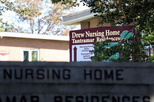 Seventeen residents and six staff members have tested positive for COVID-19 at the Drew Nursing Home in Sackville. (Shane Magee/CBC - image credit)