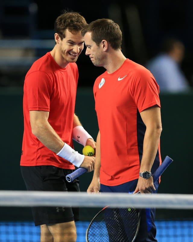Leon Smith (right) and Andy Murray have had a close relationship for 20 years (Mike Egerton/PA)