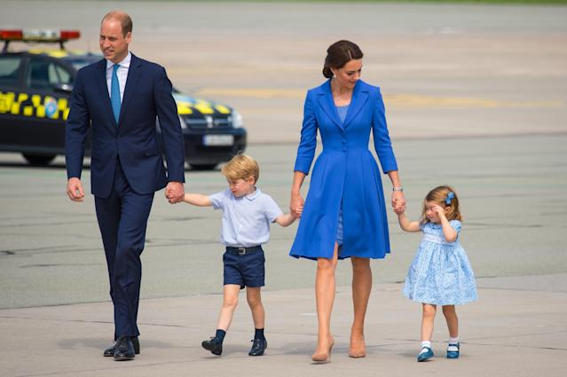 Prince George and Princess Charlotte kicked off a royal effect in baby names. (Photo: Getty Images)