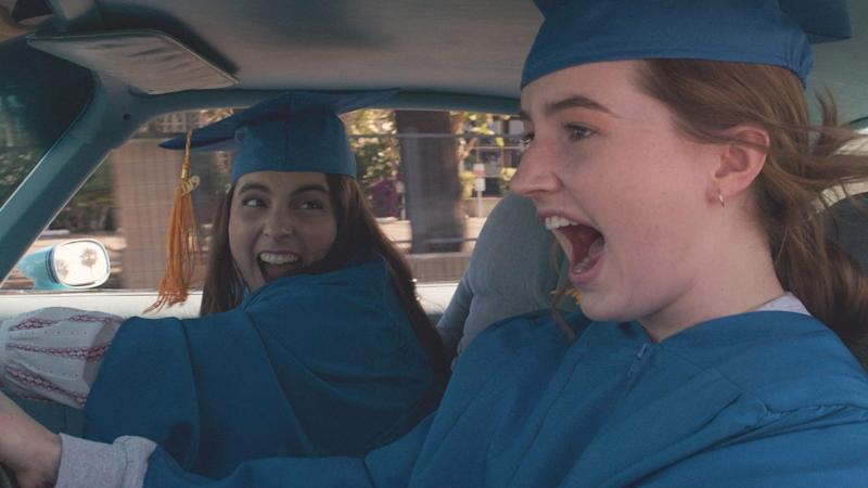 """Booksmart"" was a winner for representation: It starred two female leads (Beanie Feldstein, left, and Kaitlyn Dever), one of them playing a LGBTQ character, and was directed by Olivia Wilde."