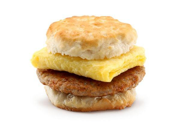 mcdonalds mneu breakfast sausage biscuit with egg
