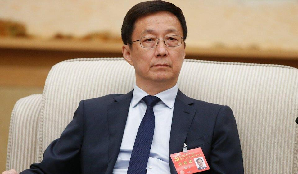 Vice-Premier Han Zheng also emphasised the importance of protecting and promoting intellectual property rights. Photo: EPA-EFE