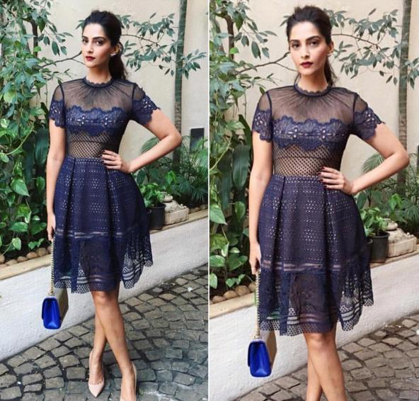 "<p>Sonam is no stranger to the best dressed list. Being passionate about fashion makes it no surprise that she looks great all of the time. With peek-a-boo dresses making a great comeback this season, the actress sure knows how to carry this trend flawlessly. The casual ponytail and dark lipstick makes her look irresistibly glamourous.</p><p><a href=""https://www.instagram.com/p/BBCj6oKM_6D/?taken-by=afashionistasdiaries"">https://www.instagram.com/p/BBCj6oKM_6D/</a></p>"
