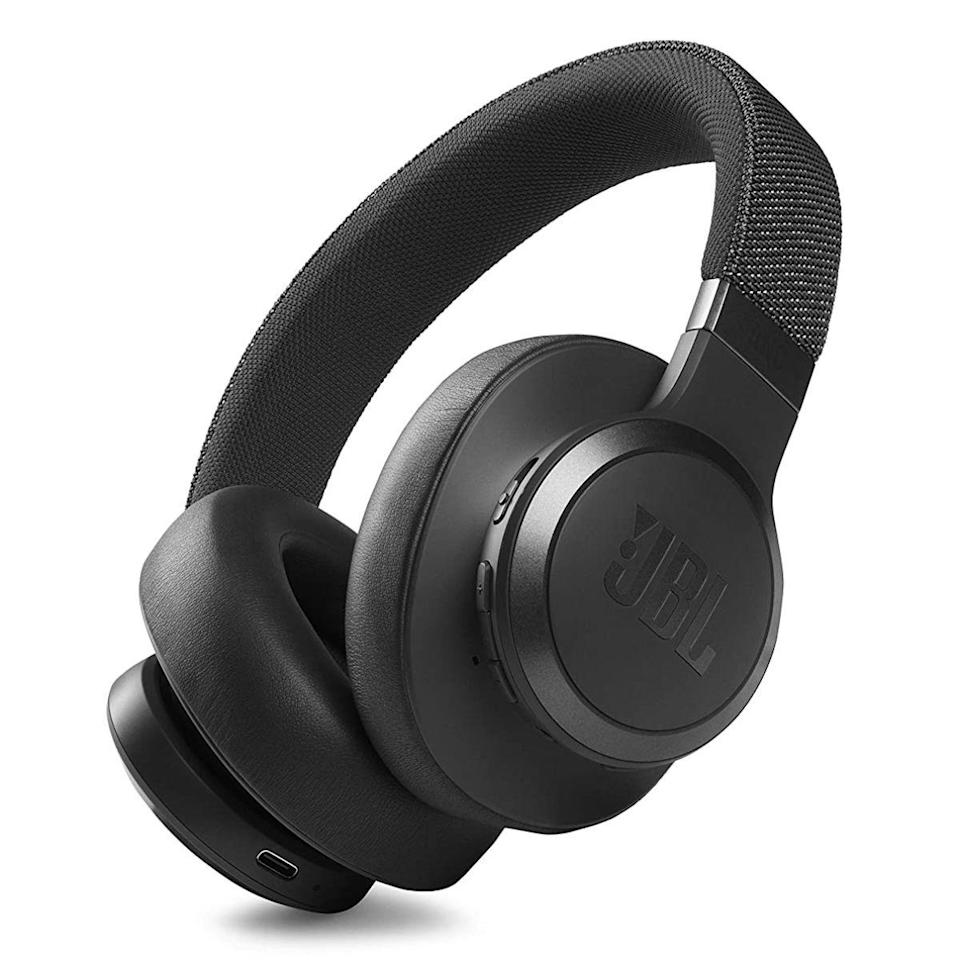 """<p><strong>JBL</strong></p><p>amazon.com</p><p><strong>$199.95</strong></p><p><a href=""""https://www.amazon.com/dp/B091FZK6VB?tag=syn-yahoo-20&ascsubtag=%5Bartid%7C2089.g.37113159%5Bsrc%7Cyahoo-us"""" rel=""""nofollow noopener"""" target=""""_blank"""" data-ylk=""""slk:Shop Now"""" class=""""link rapid-noclick-resp"""">Shop Now</a></p><p><strong>Key Features</strong><br><br>• 40-millimeter audio drivers with JBL Signature sound<br>• Adaptive noise cancellation with Ambient Aware and TalkThru modes<br>• Up to 50 hours of battery life (40 hours with noise cancellation)<br>• JBL companion app</p><p>A follow-up to the <a href=""""https://www.amazon.com/dp/B07QMT3ZQZ?tag=syn-yahoo-20&ascsubtag=%5Bartid%7C2089.g.37113159%5Bsrc%7Cyahoo-us"""" rel=""""nofollow noopener"""" target=""""_blank"""" data-ylk=""""slk:popular JBL Live 650BTNC"""" class=""""link rapid-noclick-resp"""">popular JBL Live 650BTNC</a>, the Live 660NC wireless headphones have the same characterful design with a fabric-covered headband but upgraded sound and noise cancellation, more futureproof Bluetooth 5.0 connectivity, and next-level battery life of up to 50 hours. For comparison, the now-cheaper Live 650BTNC cans have older Bluetooth 4.2 and up to 30 hours of battery life. </p><p>The Live 660NC headphones also offer high-quality sound and noise cancellation, hands-free access to virtual assistants, and app-enabled customization tools. JBL also offers a <a href=""""https://www.amazon.com/dp/B08WR6YDKP?tag=syn-yahoo-20&ascsubtag=%5Bartid%7C2089.g.37113159%5Bsrc%7Cyahoo-us"""" rel=""""nofollow noopener"""" target=""""_blank"""" data-ylk=""""slk:more compact Live 460NC with a similar design and lower price tag"""" class=""""link rapid-noclick-resp"""">more compact Live 460NC with a similar design and lower price tag</a>.</p>"""