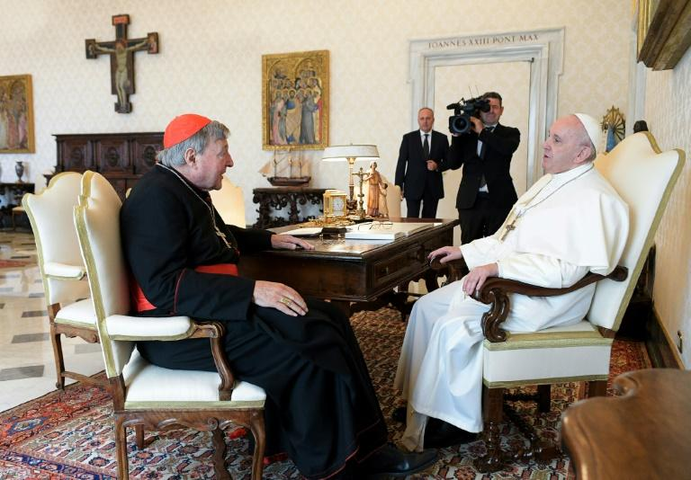 Pope meets acquitted Australian cardinal Pell