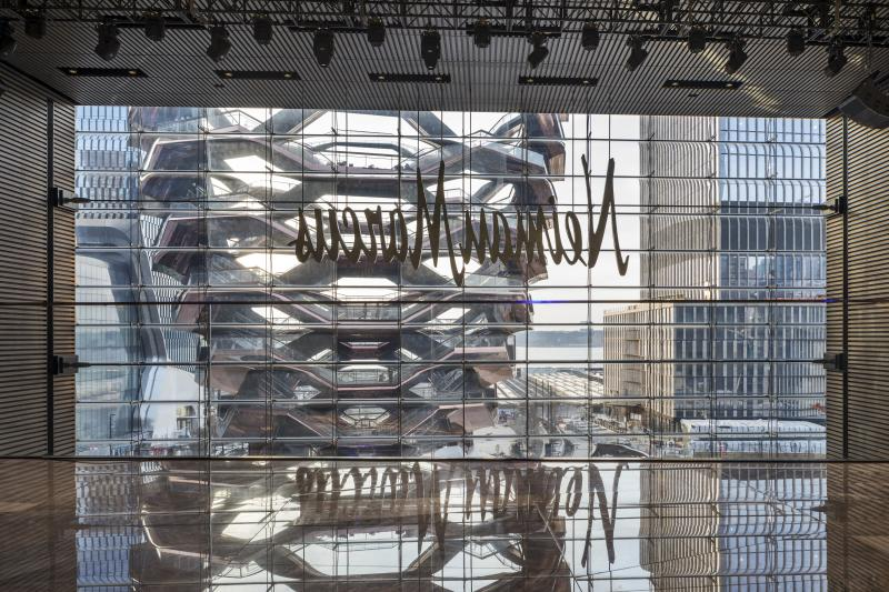 94556d83d2db A look outside from within the Neiman Marcus department store at Hudson  Yards.