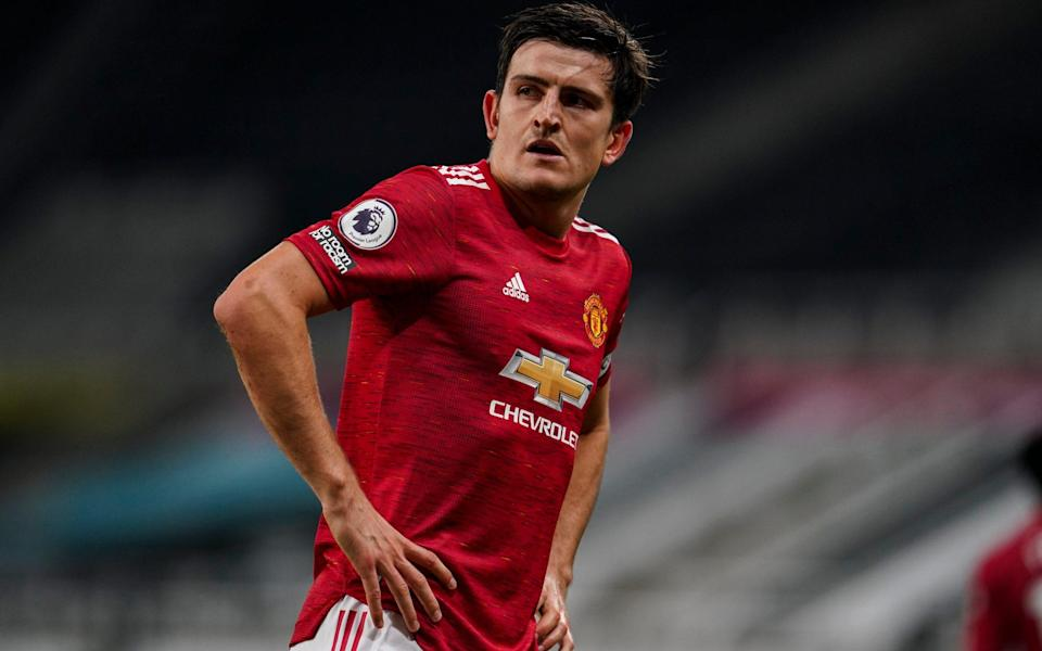 Harry Maguire is struggling with a muscle injury - JON SUPER