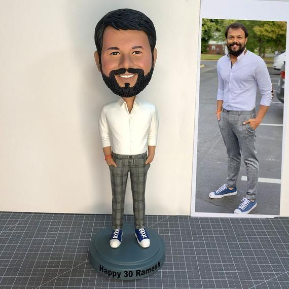 """<p><strong>MyBobbleheadsShop</strong></p><p>etsy.com</p><p><strong>$79.90</strong></p><p><a href=""""https://go.redirectingat.com?id=74968X1596630&url=https%3A%2F%2Fwww.etsy.com%2Flisting%2F889868617%2Fcustom-man-bobbleheads-personalized&sref=https%3A%2F%2Fwww.menshealth.com%2Ftechnology-gear%2Fg35220362%2Fbest-husband-gifts%2F"""" rel=""""nofollow noopener"""" target=""""_blank"""" data-ylk=""""slk:BUY IT HERE"""" class=""""link rapid-noclick-resp"""">BUY IT HERE</a></p><p>If you're looking for a truly unique gift for your husband, this is it. He'll get a kick out of this custom bobblehead that looks just like him.</p>"""