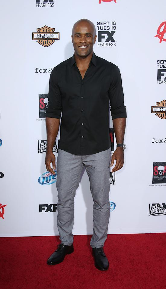 """HOLLYWOOD, CA - SEPTEMBER 07: Actor Lamonica Garrett attends the Premiere of FX's """"Sons of Anarchy"""" Season 6 at the Dolby Theatre on September 7, 2013 in Hollywood, California. (Photo by Frederick M. Brown/Getty Images)"""