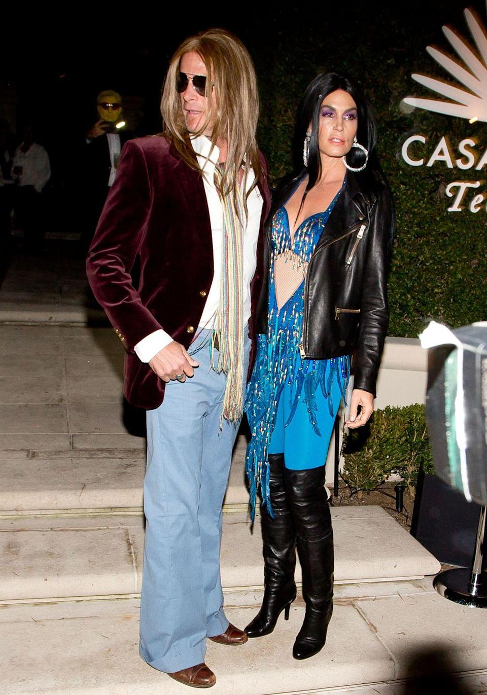 <p>Though Cher and Gregg didn't last, the longtime couple looked like they were ready to hit the stage and relive the duo's glory days. </p>