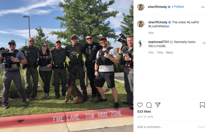 Image: An Instagram post featuring a Live PD crew in 2019. (via Instagram)