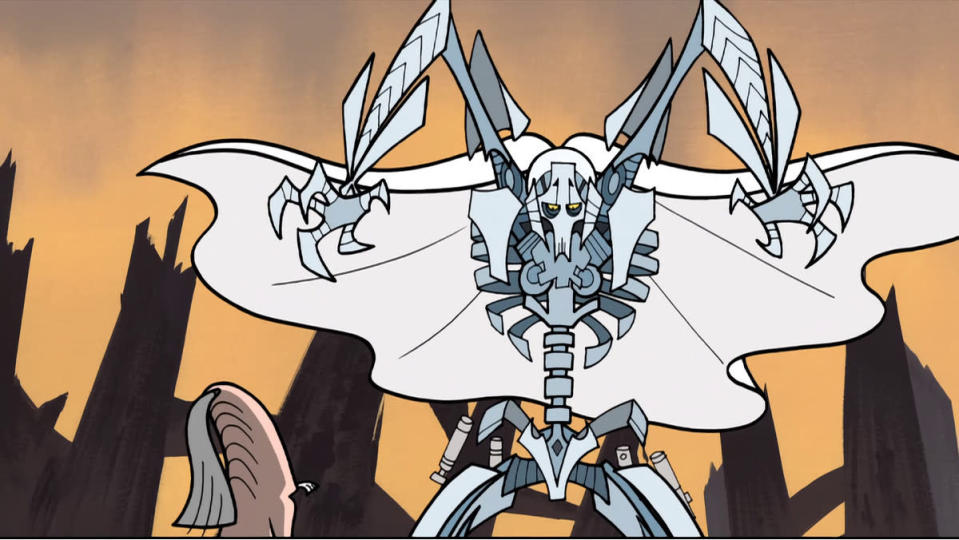 General Grievous prepares for battle in Clone Wars