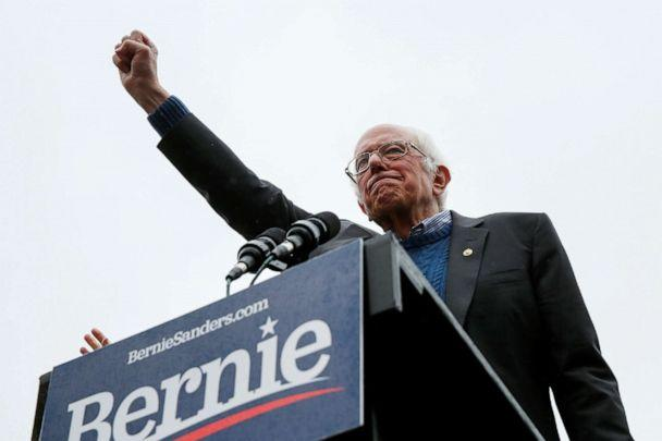 PHOTO: Democratic 2020 presidential candidate and Sen. Bernie Sanders, I-Vt., addresses his supporters during a campaign rally in Concord, N.H., Oct. 31, 2019. (Elizabeth Frantz/Reuters, FILE)