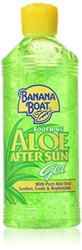 """<p><strong>Banana Boat</strong></p><p>amazon.com</p><p><a href=""""https://www.amazon.com/dp/B000P9IE54?tag=syn-yahoo-20&ascsubtag=%5Bartid%7C2139.g.32905087%5Bsrc%7Cyahoo-us"""" rel=""""nofollow noopener"""" target=""""_blank"""" data-ylk=""""slk:BUY IT HERE"""" class=""""link rapid-noclick-resp"""">BUY IT HERE</a></p><p>Aloe vera helps with up to <a href=""""https://pubmed.ncbi.nlm.nih.gov/17499928/"""" rel=""""nofollow noopener"""" target=""""_blank"""" data-ylk=""""slk:second-degree burns"""" class=""""link rapid-noclick-resp"""">second-degree burns</a>—plus it's moisturizing, which may minimize skin peeling from sun damage. </p>"""