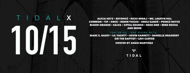 Livestream TIDAL X: 1015 Feat. Beyoncé, Nicki Minaj, Ms. Lauryn Hill, & More