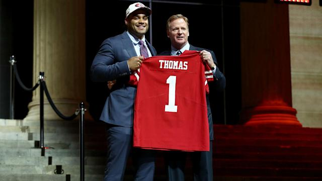 Through his trades and by adding top defensive talent, the rookie GM's draft put the 49ers on the right track.