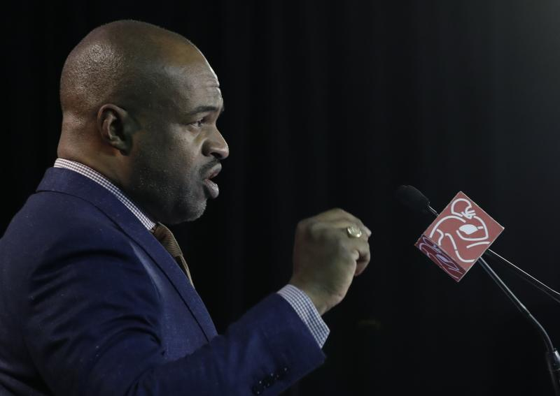 DeMaurice Smith, executive director of the NFL Players Association, spoke about players' protests during his state of the NFLPA address on Thursday. (AP)
