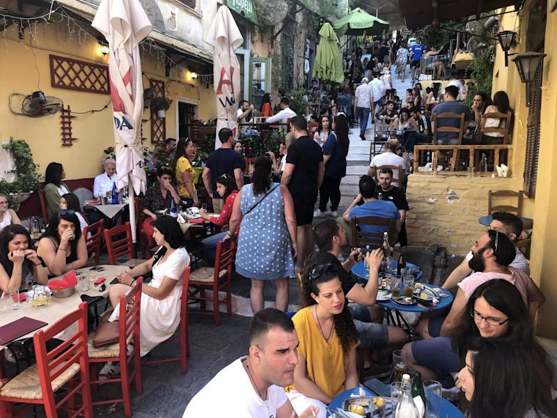 Distant dream: restaurants in central Athens in the summer of 2019: Simon Calder
