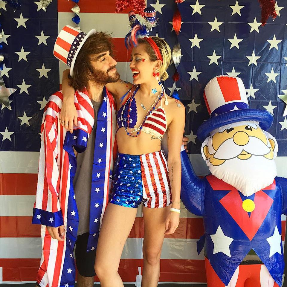 "But though Tay's festivities may steal all her thunder, Miley has also long been one of the foremost fans of July 4 throwing an annual party as well, although the ""Party in the USA"" singer tends to include way more sequins, kitsch, and shall we say, ""party favors."""