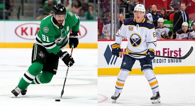 Members of the Stars and Sabres have been perplexing fantasy owners everywhere. (Getty)