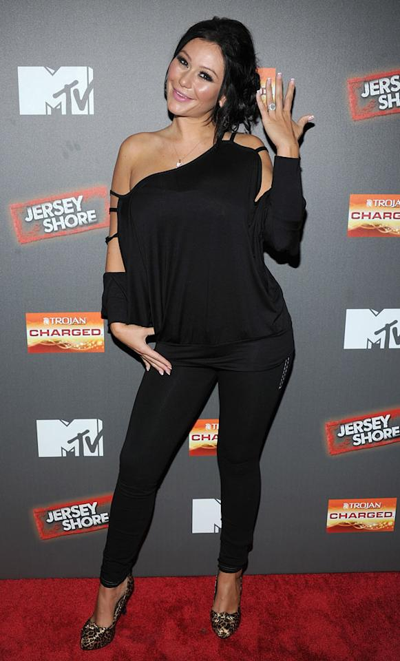 "Jenni ""J Woww"" Farley attends the ""Jersey Shore"" Final Season Premiere at Bagatelle on October 4, 2012 in New York City."