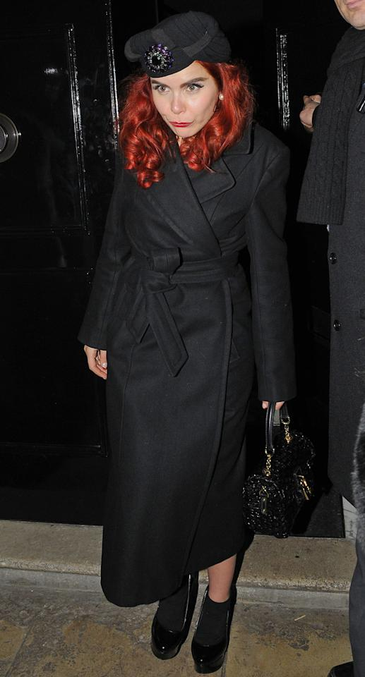 Paloma Faith wrapped up warm as she made her way to and from the parties.