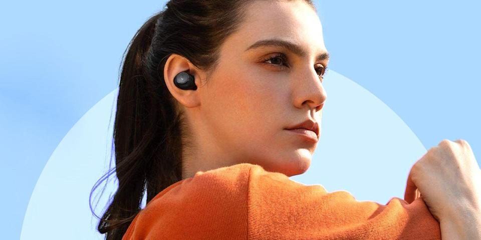 "<p>Once priced out of reach for many consumers, true wireless earbuds have come a long way since <a href=""https://www.bestproducts.com/tech/gadgets/a594/apple-airpods-wireless-earbuds-review/"" rel=""nofollow noopener"" target=""_blank"" data-ylk=""slk:the original AirPods"" class=""link rapid-noclick-resp"">the original AirPods</a>. Since 2017, products from <a href=""https://www.bestproducts.com/tech/a28650115/bose-soundsport-free-truly-wireless-earbuds-review/"" rel=""nofollow noopener"" target=""_blank"" data-ylk=""slk:Bose"" class=""link rapid-noclick-resp"">Bose</a>, <a href=""https://www.bestproducts.com/tech/gadgets/a28323955/jabra-elite-65t-truly-wireless-earbuds-review/"" rel=""nofollow noopener"" target=""_blank"" data-ylk=""slk:Jabra"" class=""link rapid-noclick-resp"">Jabra</a>, and <a href=""https://www.bestproducts.com/tech/gadgets/a20897111/sony-wf-sp700-wire-free-earbuds-review/"" rel=""nofollow noopener"" target=""_blank"" data-ylk=""slk:Sony"" class=""link rapid-noclick-resp"">Sony</a> took the product category into the mainstream. Today, there are tons of great options to choose from that, most importantly, are actually affordable. </p><p>Having an overwhelming selection of cheap wireless earbuds is a particularly exciting industry shift. Until recently, consumers had to make major compromises in terms of quality, performance, and battery life to find a pair of true wireless earbuds on the cheap. Luckily, that's not the case anymore. We've spent a few weeks researching, evaluating, and testing true wireless earbuds to determine which are the best under $100. </p><h3 class=""body-h3"">Best True Wireless Earbuds Under $100</h3><ul><li><strong>Our Top Pick:</strong> <a href=""https://www.amazon.com/dp/B08KDX5H5Z?tag=syn-yahoo-20&ascsubtag=%5Bartid%7C2089.g.35604560%5Bsrc%7Cyahoo-us"" rel=""nofollow noopener"" target=""_blank"" data-ylk=""slk:Soundcore Life A2 Wireless Earbuds"" class=""link rapid-noclick-resp"">Soundcore Life A2 Wireless Earbuds</a></li><li><strong>Runner-Up:</strong> <a href=""https://www.amazon.com/dp/B08QZGH5PC?tag=syn-yahoo-20&ascsubtag=%5Bartid%7C2089.g.35604560%5Bsrc%7Cyahoo-us"" rel=""nofollow noopener"" target=""_blank"" data-ylk=""slk:Tribit Flybuds C1 Wireless Earbuds"" class=""link rapid-noclick-resp"">Tribit Flybuds C1 Wireless Earbuds</a></li><li><strong>Most Affordable:</strong> <a href=""https://www.amazon.com/dp/B08R68TS6R?tag=syn-yahoo-20&ascsubtag=%5Bartid%7C2089.g.35604560%5Bsrc%7Cyahoo-us"" rel=""nofollow noopener"" target=""_blank"" data-ylk=""slk:AUKEY EP-T21S Wireless Earbuds"" class=""link rapid-noclick-resp"">AUKEY EP-T21S Wireless Earbuds</a></li><li><strong>Best Under $50:</strong> <a href=""https://www.amazon.com/dp/B08J7SJ4Q5?tag=syn-yahoo-20&ascsubtag=%5Bartid%7C2089.g.35604560%5Bsrc%7Cyahoo-us"" rel=""nofollow noopener"" target=""_blank"" data-ylk=""slk:TaoTronics SoundLiberty 97 Wireless Earbuds"" class=""link rapid-noclick-resp"">TaoTronics SoundLiberty 97 Wireless Earbuds </a></li><li><strong>The Comfiest:</strong> <a href=""https://www.amazon.com/dp/B08JZ4LVJ9?tag=syn-yahoo-20&ascsubtag=%5Bartid%7C2089.g.35604560%5Bsrc%7Cyahoo-us"" rel=""nofollow noopener"" target=""_blank"" data-ylk=""slk:1MORE Comfobuds Wireless Earbuds"" class=""link rapid-noclick-resp"">1MORE Comfobuds Wireless Earbuds</a></li><li><strong>Best AirPods Alternative:</strong> <a href=""https://www.amazon.com/dp/B08PZ2K5FR?tag=syn-yahoo-20&ascsubtag=%5Bartid%7C2089.g.35604560%5Bsrc%7Cyahoo-us"" rel=""nofollow noopener"" target=""_blank"" data-ylk=""slk:TaoTronics SoundLiberty A10 Wireless Earbuds"" class=""link rapid-noclick-resp"">TaoTronics SoundLiberty A10 Wireless Earbuds</a></li><li><strong>Best Bass:</strong> <a href=""https://www.amazon.com/dp/B085VQFZ8Z?tag=syn-yahoo-20&ascsubtag=%5Bartid%7C2089.g.35604560%5Bsrc%7Cyahoo-us"" rel=""nofollow noopener"" target=""_blank"" data-ylk=""slk:Sony WF-XB700 EXTRA BASS Wireless Earbuds"" class=""link rapid-noclick-resp"">Sony WF-XB700 EXTRA BASS Wireless Earbuds</a></li><li><strong>Best for Exercising:</strong> <a href=""https://www.amazon.com/dp/B08KDZ2NZX?tag=syn-yahoo-20&ascsubtag=%5Bartid%7C2089.g.35604560%5Bsrc%7Cyahoo-us"" rel=""nofollow noopener"" target=""_blank"" data-ylk=""slk:Soundcore Life A1 Wireless Earbuds"" class=""link rapid-noclick-resp"">Soundcore Life A1 Wireless Earbuds</a></li><li><strong>Most Eco-Friendly:</strong> <a href=""https://www.amazon.com/dp/B08CDWVGM2?tag=syn-yahoo-20&ascsubtag=%5Bartid%7C2089.g.35604560%5Bsrc%7Cyahoo-us"" rel=""nofollow noopener"" target=""_blank"" data-ylk=""slk:House of Marley Champion Wireless Earbuds"" class=""link rapid-noclick-resp"">House of Marley Champion Wireless Earbuds</a></li><li><strong>Most Reliable Fit:</strong> <a href=""https://www.amazon.com/dp/B08LQTRCR4?tag=syn-yahoo-20&ascsubtag=%5Bartid%7C2089.g.35604560%5Bsrc%7Cyahoo-us"" rel=""nofollow noopener"" target=""_blank"" data-ylk=""slk:JBL Endurance Peak II Wireless Earbuds"" class=""link rapid-noclick-resp"">JBL Endurance Peak II Wireless Earbuds</a></li></ul><h3 class=""body-h3"">How We Chose</h3><p>Before testing, we spent a few days researching products to find the true wireless earbuds that fit out criteria. We combed through product specs, as well as reviews from consumers and industry experts, and evaluated offerings from leading brands like Anker, JBL, Sony, and TaoTronics, among others. </p><p>We looked for buds that have a durable build and up-to-date Bluetooth 5.0 (or higher) connectivity. We also focused on products with solid battery life and a battery case with futureproof USB-C connector for charging. </p><p>While testing the products, in addition to mandatory traits like sound quality and performance during calls, we evaluated their design and fit, as well as the quality and convenience of their controls. We also considered other standout features like noise-cancellation and app-enabled controls. </p><p>Upgrade your on-the-go sound with these cheap wireless earbuds — all are considered true wireless options for less than $100.</p>"