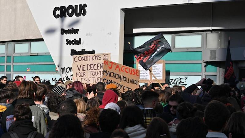 French student's self-immolation provokes anti-poverty rallies
