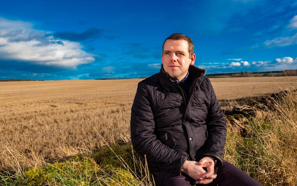 Douglas Ross has challenged the other opposition party leaders to back no confidence votes in Nicola Sturgeon and John Swinney - Stuart Nicol