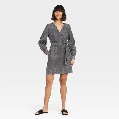 <p>I love the structured silhouette of this <span>Who What Wear Puff Long Sleeve Dress</span> ($37).</p>