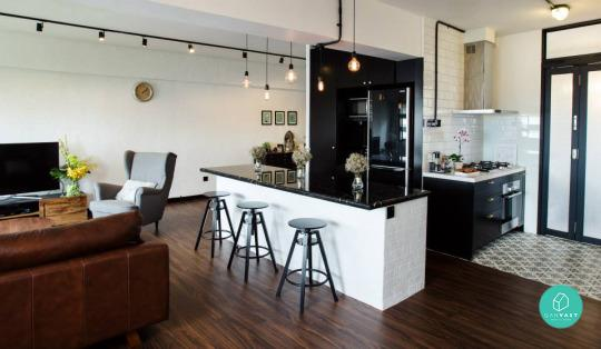 Kitchen Island Hdb Flat open-concept kitchen designs for small spaces
