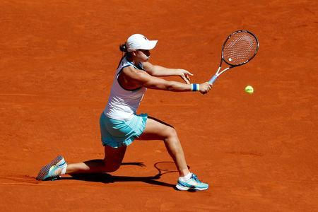 FILE PHOTO: Tennis - WTA Premier Mandatory - Madrid Open - The Caja Magica, Madrid, Spain - May 9, 2019 Australia's Ashleigh Barty in action during her quarter final match against Romania's Simona Halep REUTERS/Susana Vera/File Photo