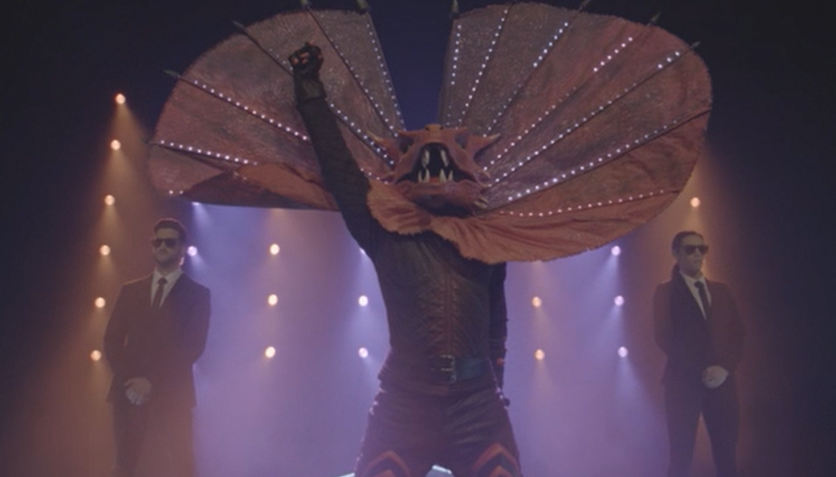 The Frillneck on The Masked Singer 2020. Photo: Channel 10 (supplied).