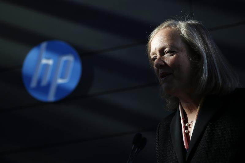 File of Meg Whitman, chief executive officer and president of Hewlett-Packard, speaking in Palo Alto