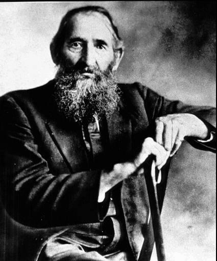 """William Anderson """"Devil Anse"""" Hatfield is shown in this 1910 photograph, taken 21 years after the feud with the McCoys ended. The feud started over a dispute of ownership of two razor-backed hogs and later escalted with Hatfield's interest in Rose Anna McCoy, Ole Ran'l McCoy's daughter. (AP Photo)"""