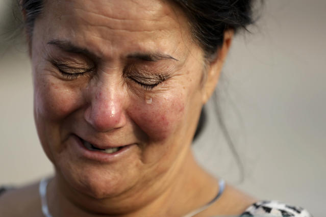 <p>Frances Breaux cries as she talks about her fears for two close friends who live near the Arkema Inc. chemical plant Thursday, Aug. 31, 2017, in Crosby, Texas. Breaux said her close friends, an elderly couple that live close to the plant, have not been heard from Thursday. The Houston-area chemical plant that lost power after Harvey engulfed the area in extensive floods was rocked by multiple explosions early Thursday, the plant's operator said. (Photo: Gregory Bull/AP) </p>