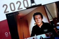 Olympic Games Executive Director of IOC Christophe Dubi speaks during a virtual press briefing for the presentation of the version three of Tokyo 2020 Playbook in Tokyo on Tuesday, June 15, 2021. (Behrouz Mehri/Pool Photo via AP)