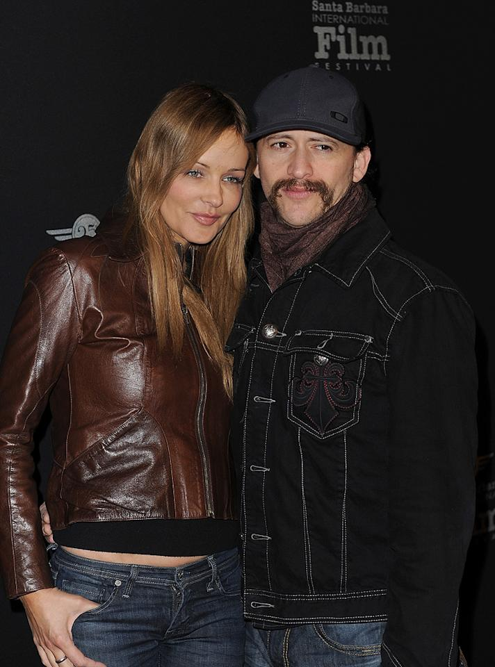 """<a href=""""http://movies.yahoo.com/movie/contributor/1800350330"""">Clifton Collins Jr.</a> and guest at the 25th Annual Santa Barbara Film Festival on Feburary 7, 2010"""
