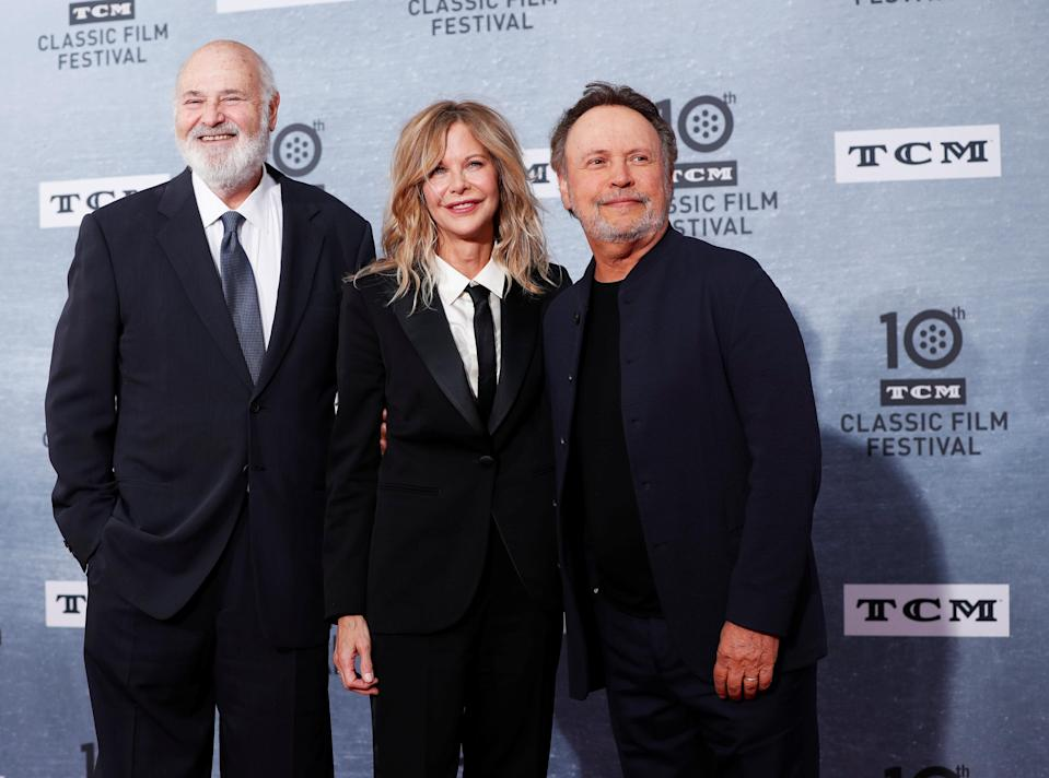 Director of the movie Rob Reiner, Billy Crystal and Meg Ryan (Credit: Reuters)