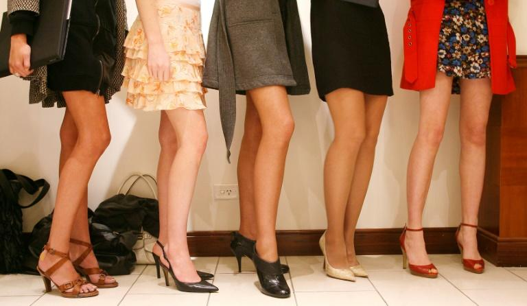 Models await their turn at a casting call in Melbourne